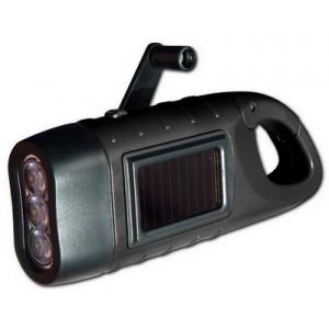 lampe de poche dynamo et solaire