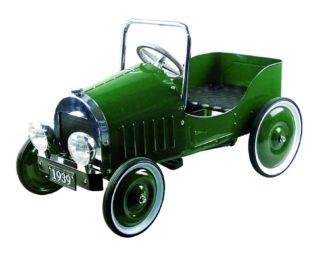 voiture à pédales rétro verte