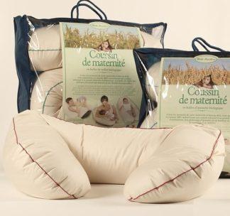 coussin de maternité en coton bio et rembourrage naturel