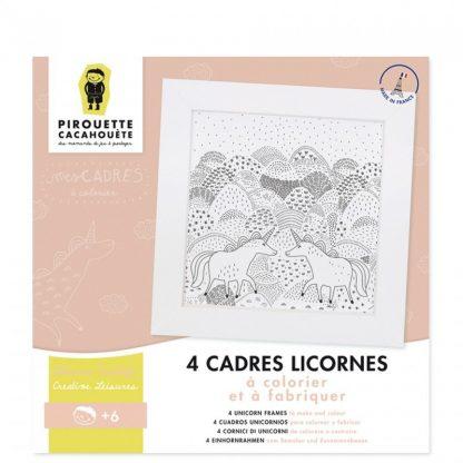 4 licornes avec cadres